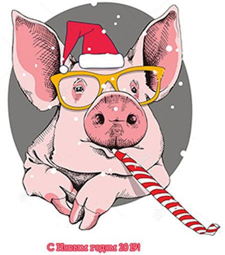 Прикольные рисунки свиньи новый год, любимый мужчина поздравить