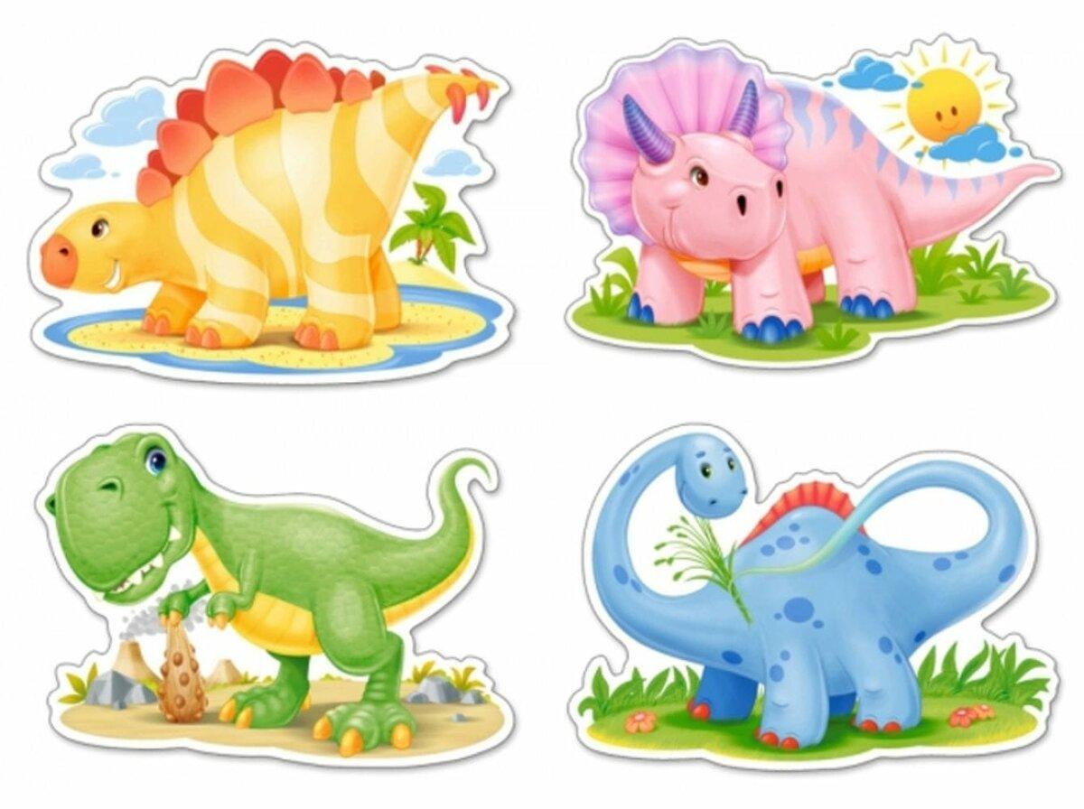 Детская открытка с динозаврами