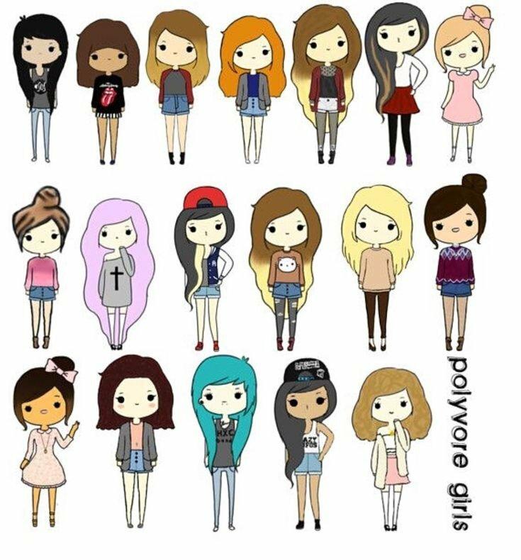 Как рисовать прикольные картинки для девочек