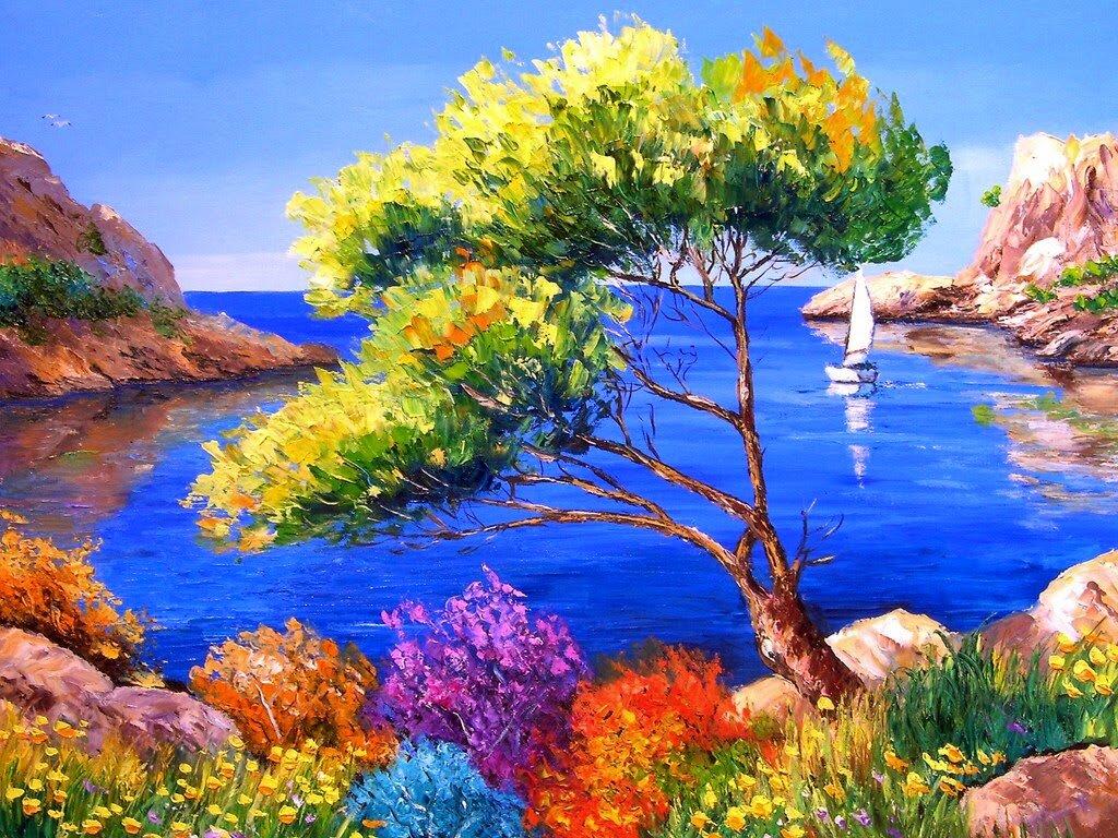 Открытки с морем и горами, любимой подруге открытку
