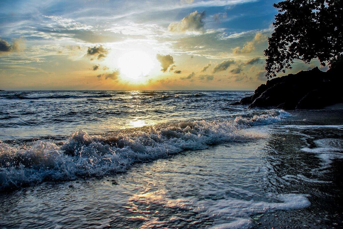 побеждать более красивые картинки природа море прибой сильное влияние