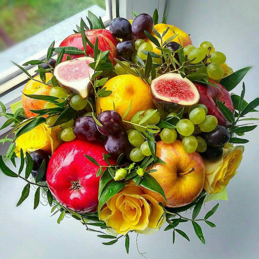 Оптовым ценам, букеты осени из цветов и фруктов екатеринбург
