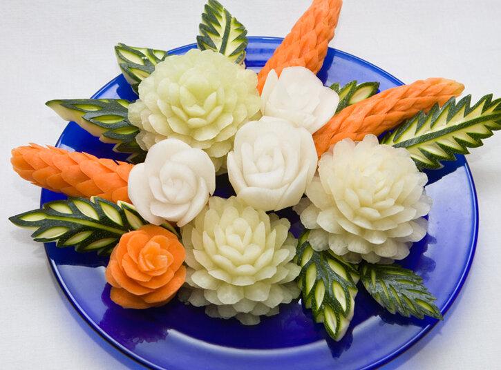 Фигурные нарезки из овощей картинки