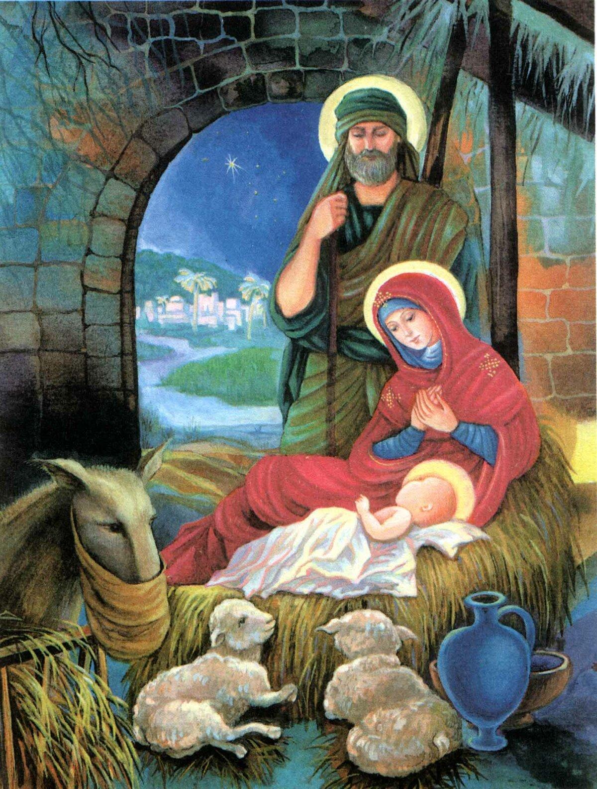 спрямовані насильницьку рождественские картинки с младенцем написать