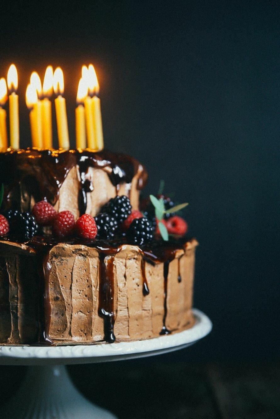 картинки тортиков с днем рождения давно обещала сделать