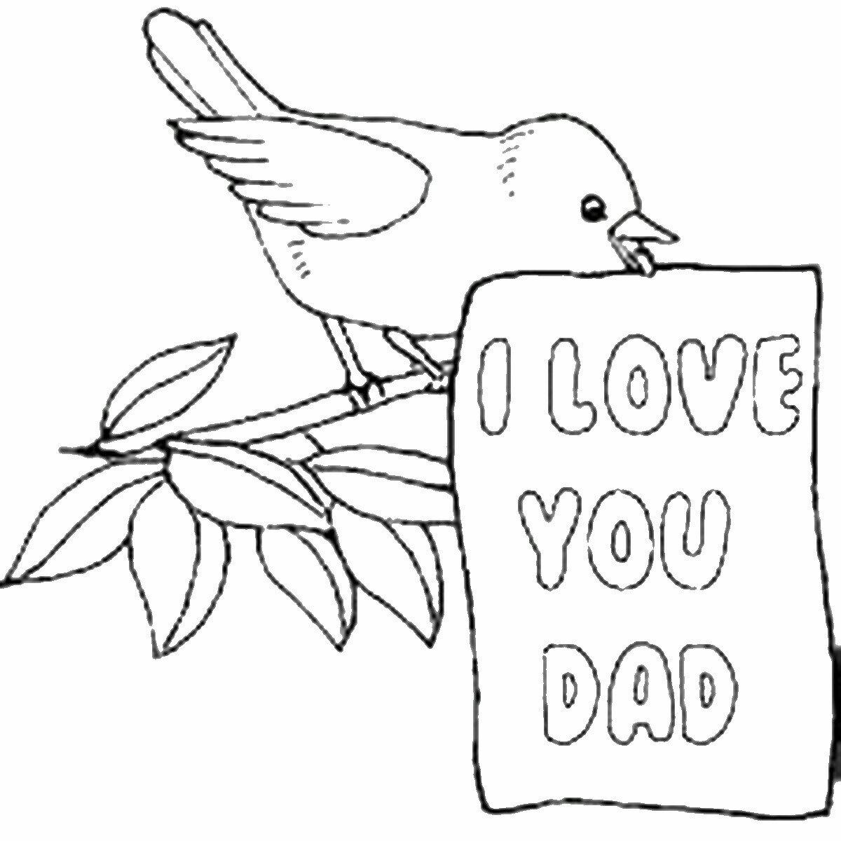 Нарисованная открытка папе на день рождения от дочки