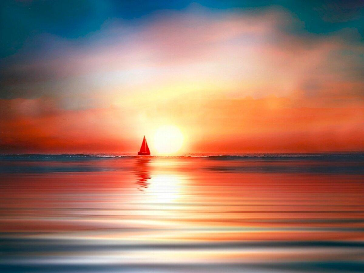 картинки море красный парус наших