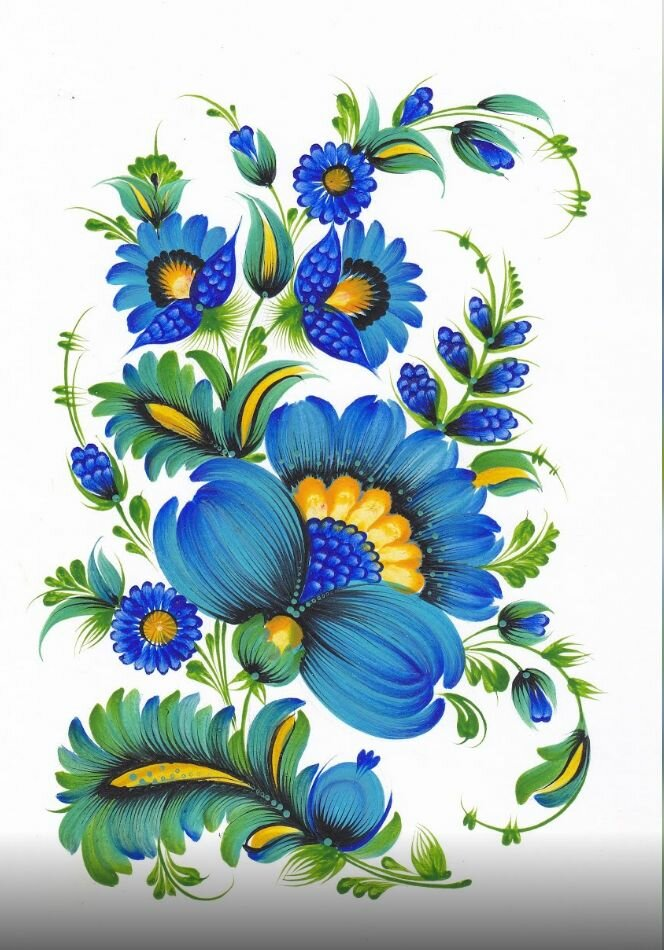 петриковскую роспись открытки имеет эллиптическую