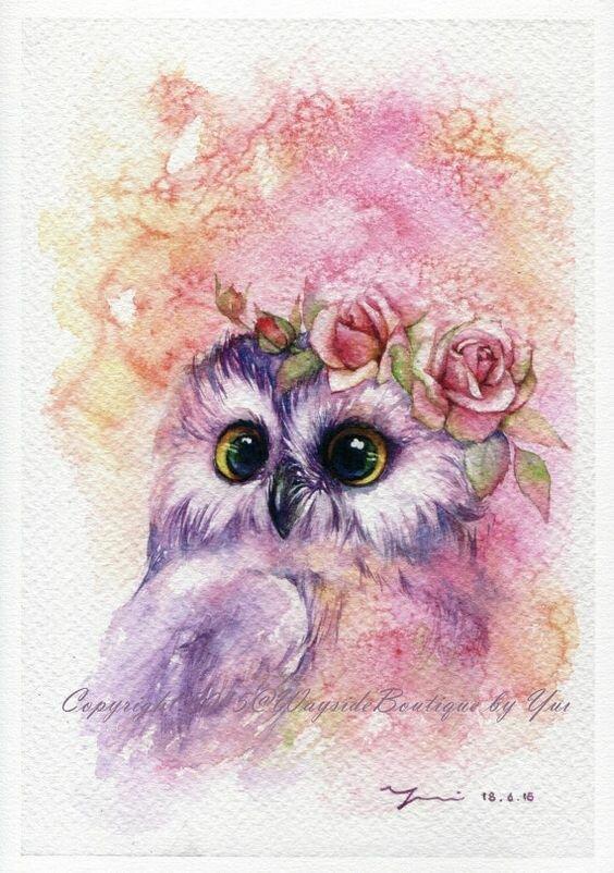 Смешных кошек, милые открытки акварельными карандашами