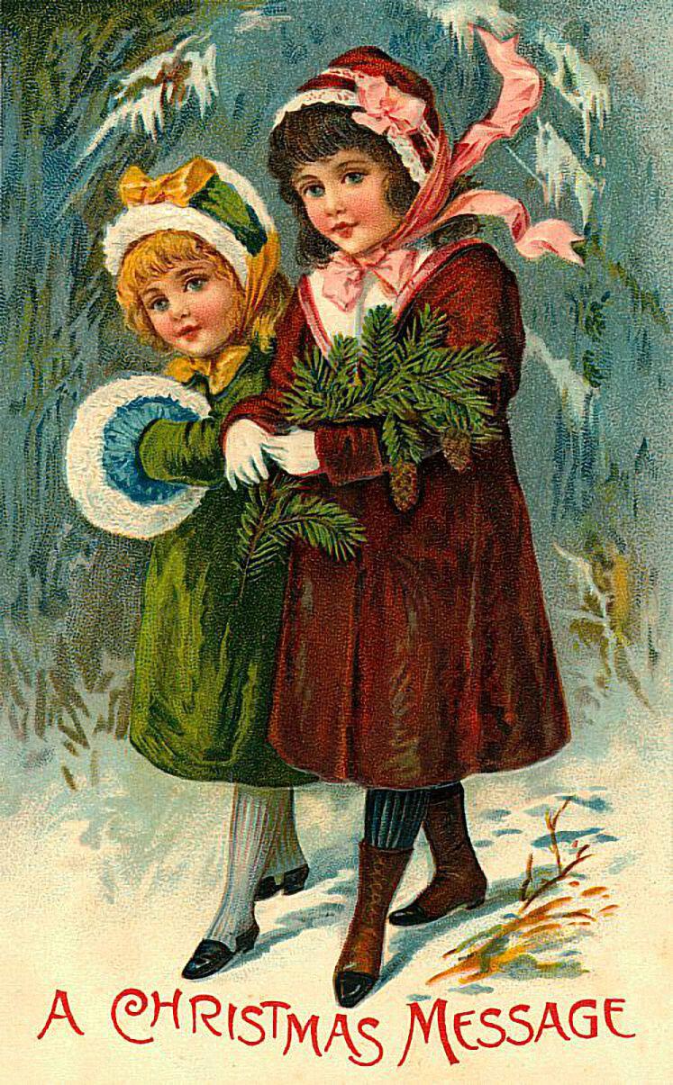 Фото новый год старые открытки