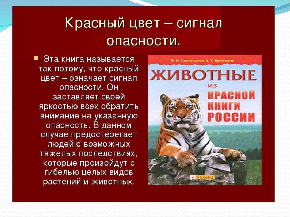 сообщение о красной книге картинки днем