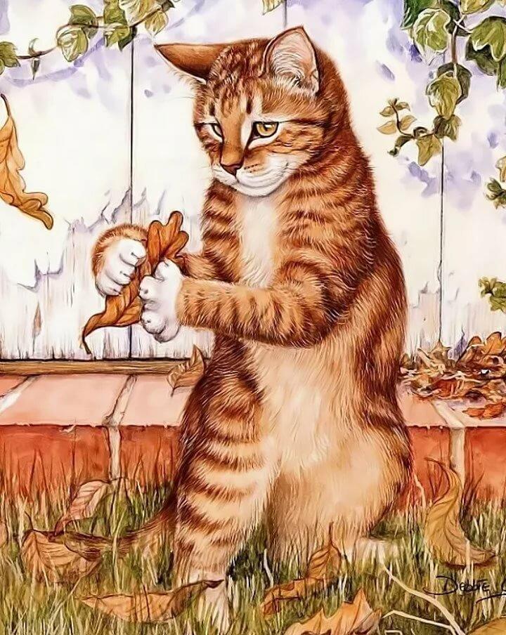 коты и кошки картинки рисунки распространяется