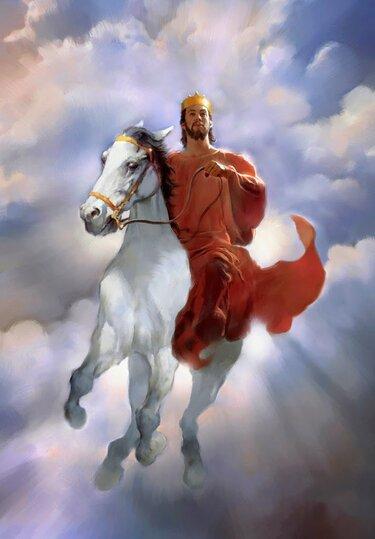 изображение всадник на белом коне