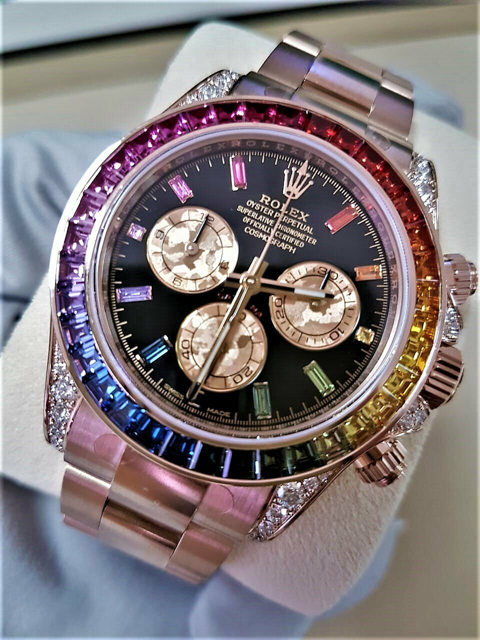 Часы Rolex White Gold Daytona Rainbow в Бердянске