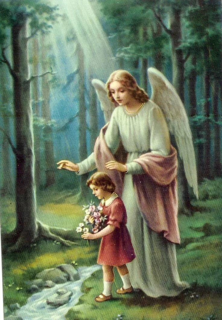 Ангел хранитель с детьми картинки