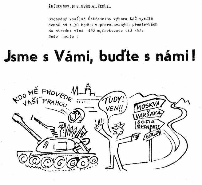 21 августа 1968 года вЧехословакию введены войска стран Варшавского договора. Конец «Пражской весны»