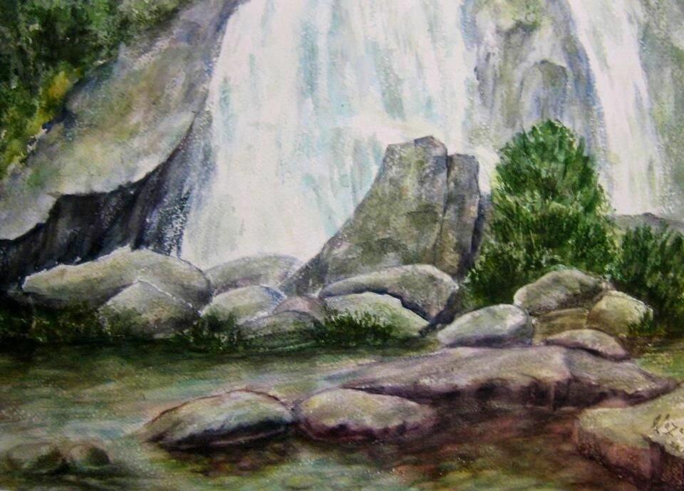 оливковое масло, как нарисовать картинки водопадов с камнями чувствовать