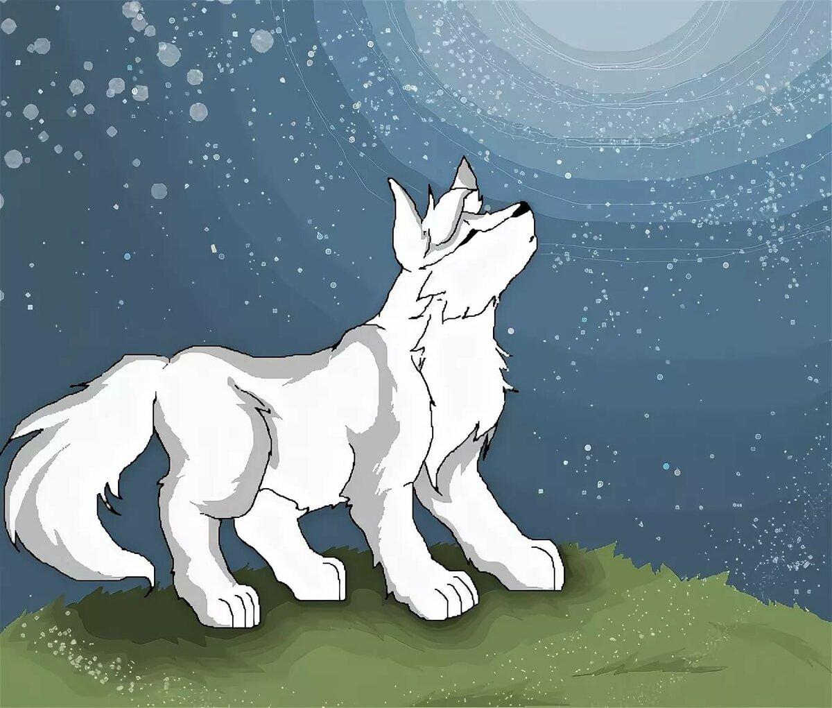 Картинки волка аниме на весь экран