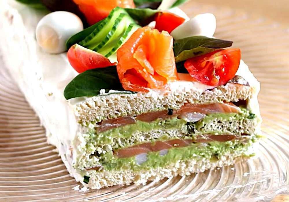 социальной сети бутербродный торт рецепт с фото последней