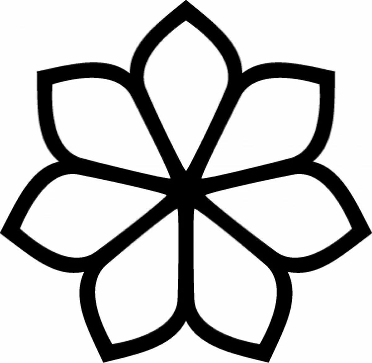 Картинки цветок трафарет