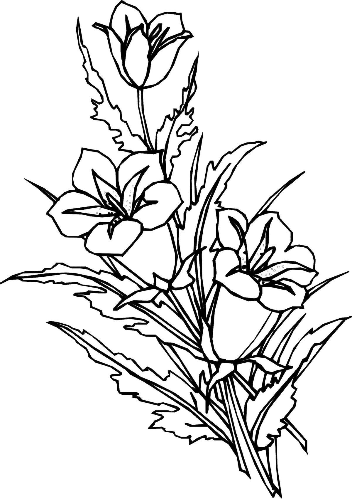 Раскраска открытка цветы, украсить открытку