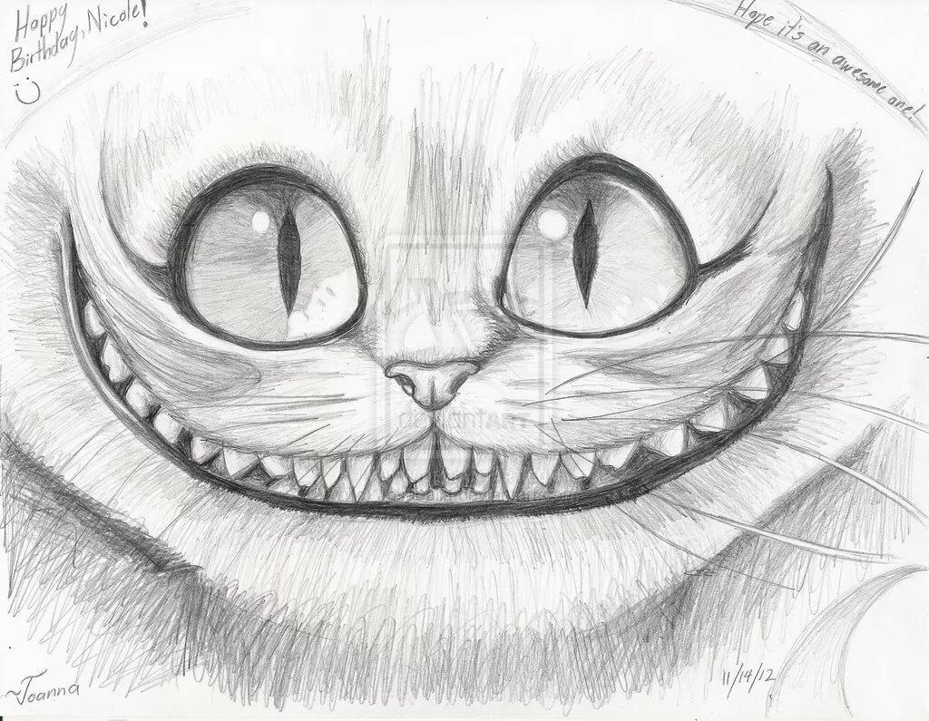 Новым годом, крутые рисунки карандашом коты