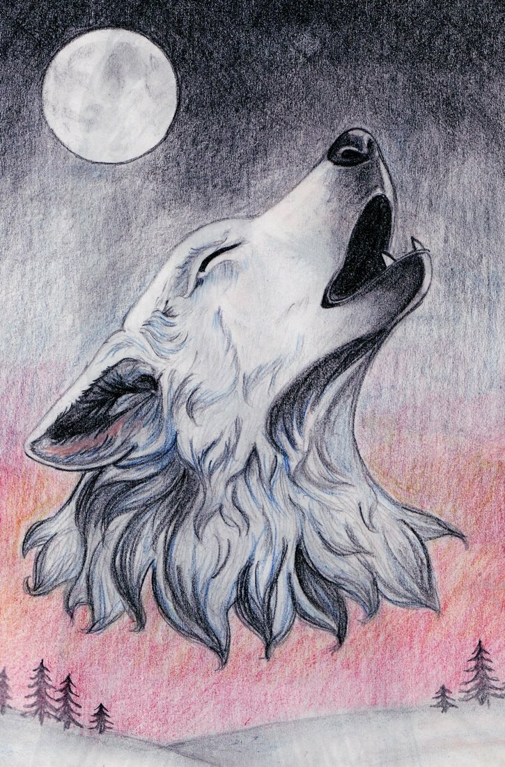 Зентангл картинки для срисовки легкие воющий волк, красивая надписью самый