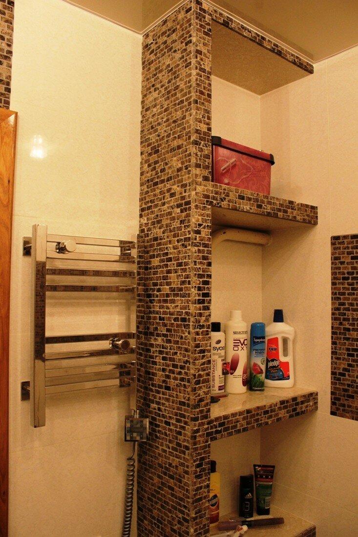 полки из гипрока в ванной