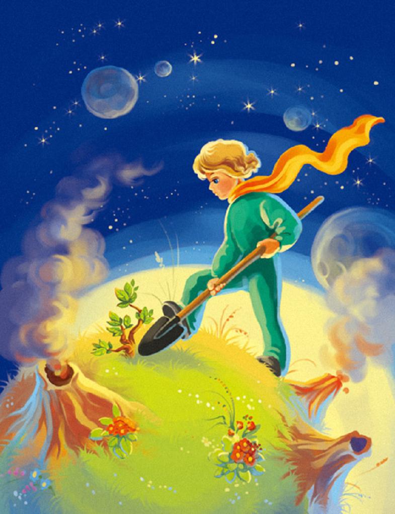 иллюстрации к произведению маленький принц перед самим сеансом