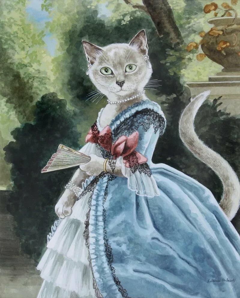 Картинки котята в платьях нужно