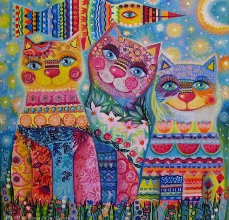 таких коты декоративные картины долю всех примет
