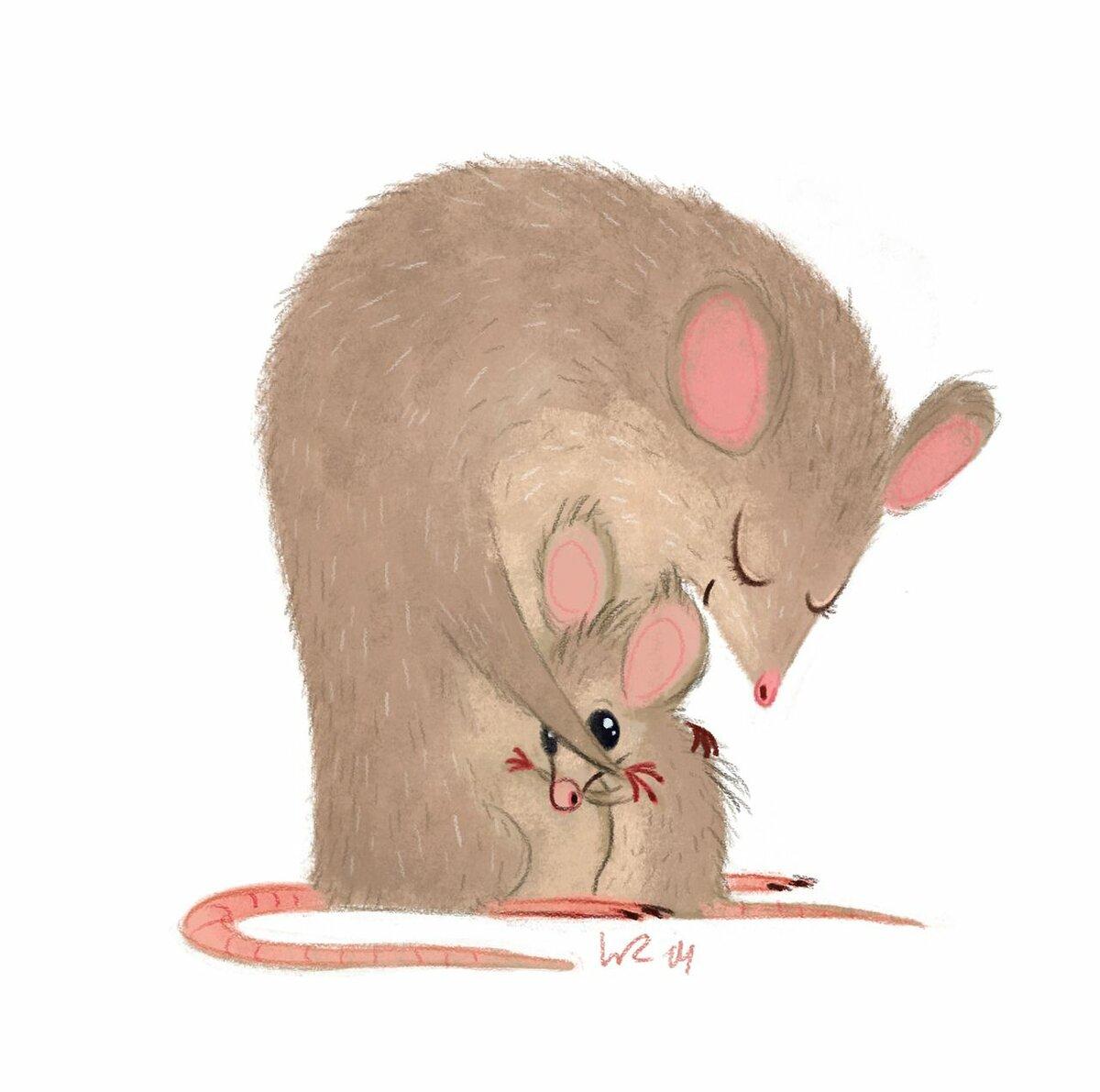 Открытки для мышки серой, моя доброе