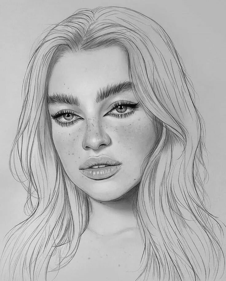 Картинки девушек лицо карандашом, годовщиной