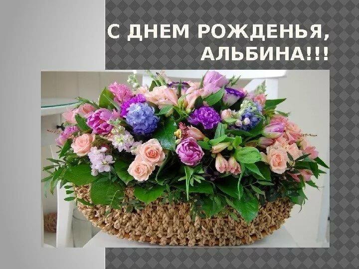 Альбиночка поздравление с днем рождения
