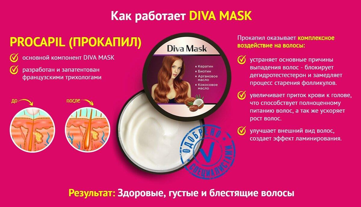 Diva Mask для укрепления и здоровья волос в Балаково