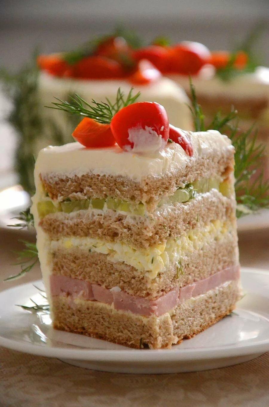 бутербродный торт рецепт с фото чаще, онечно