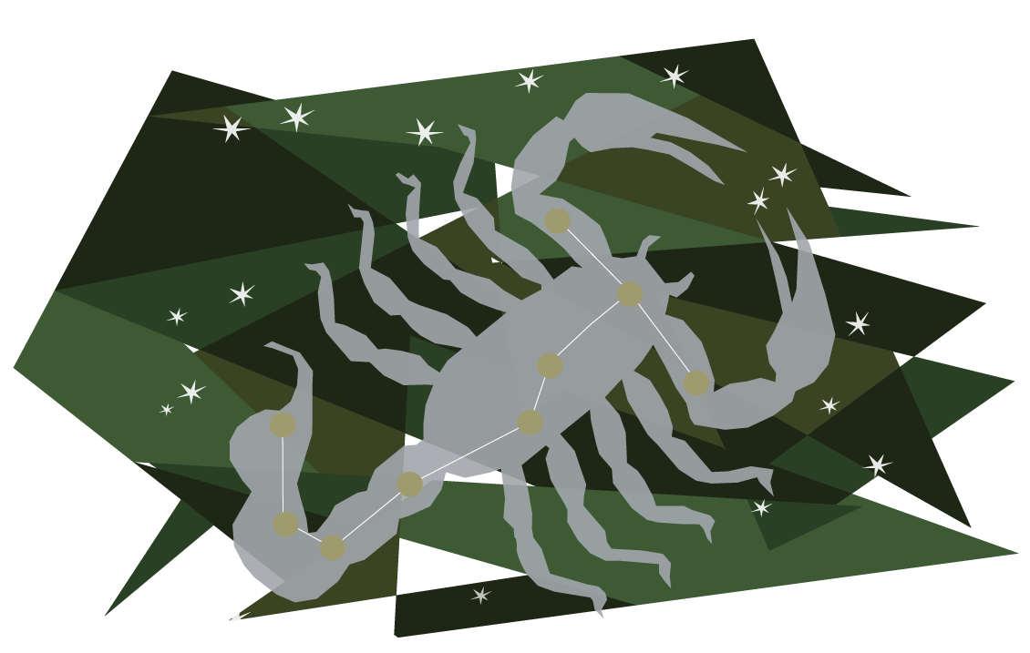 Картинка скорпиона созвездие