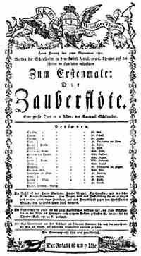 Программка первого представления оперы