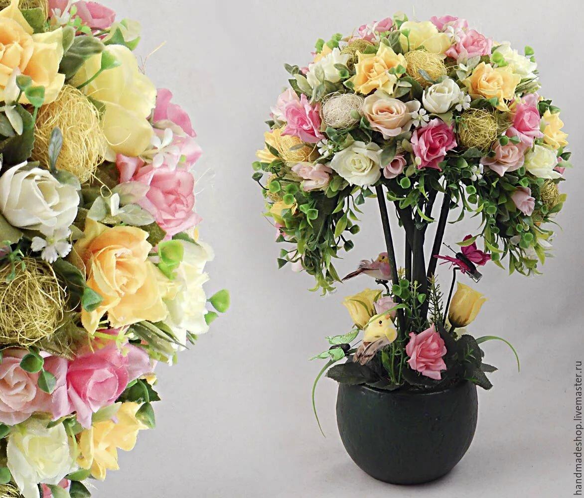 цветочный топиарий фото вакареварева знаменит