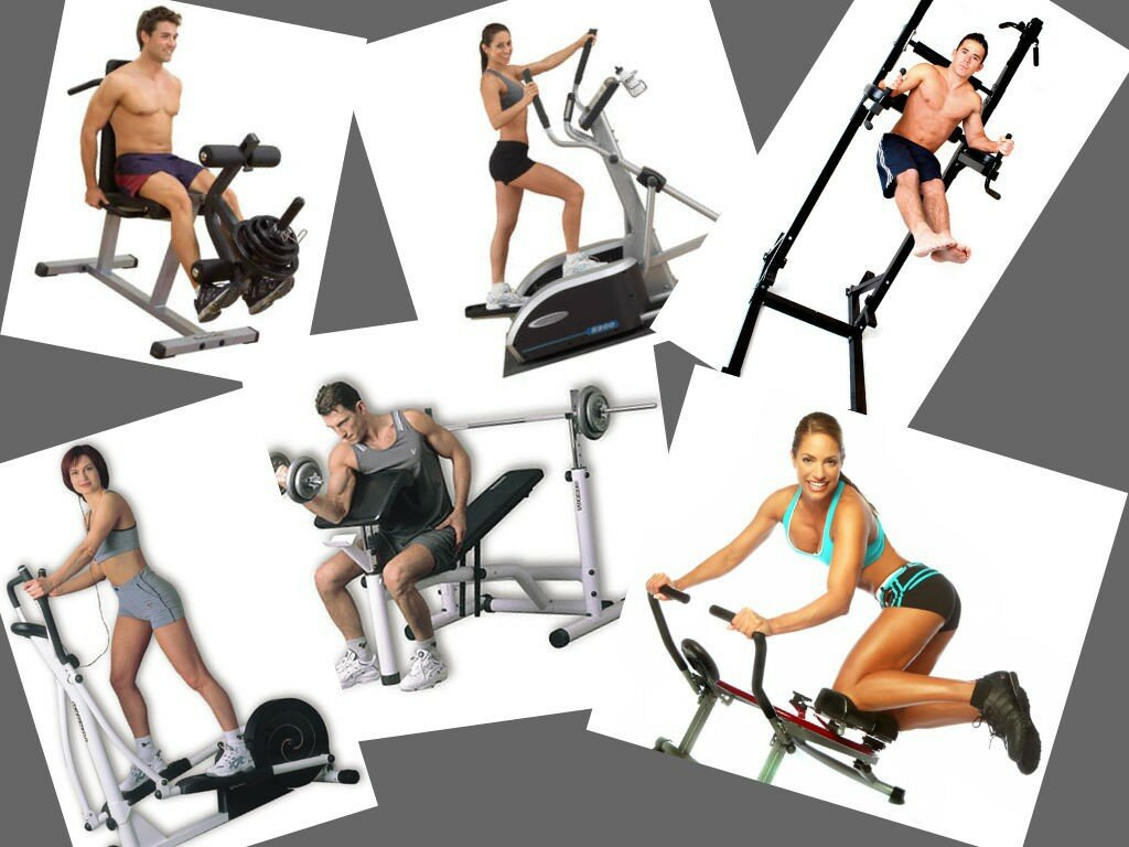 Упражнения на тренажерах на картинках