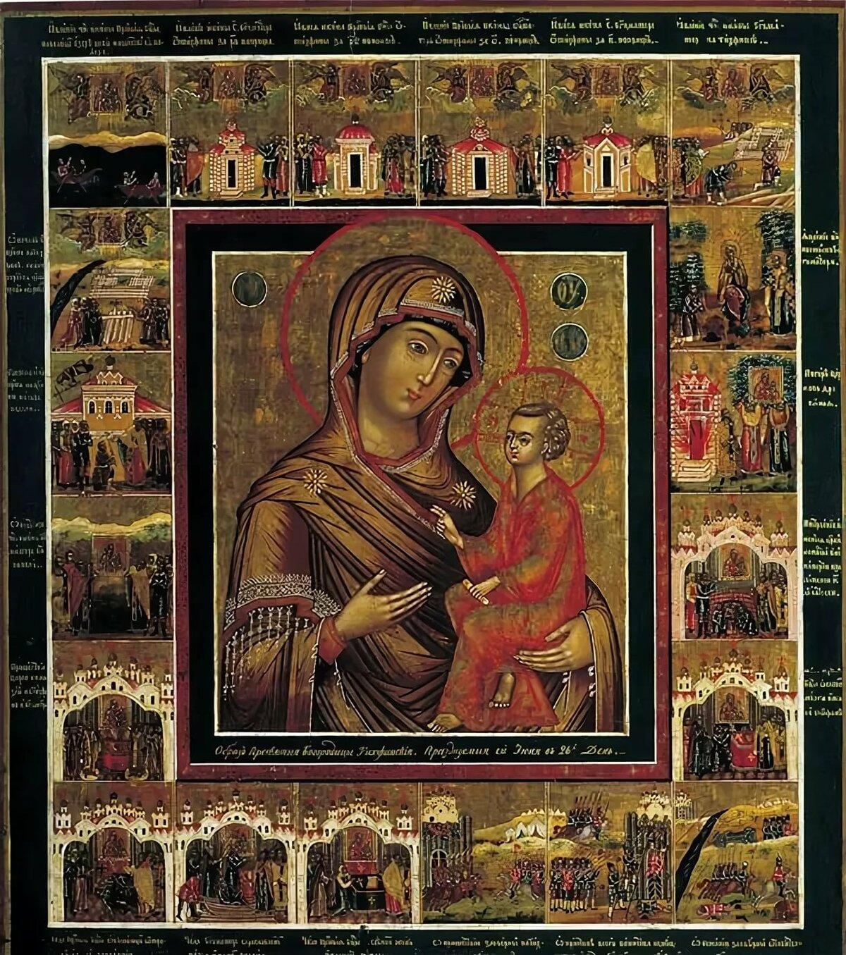 Картинка тихвинская икона божьей матери