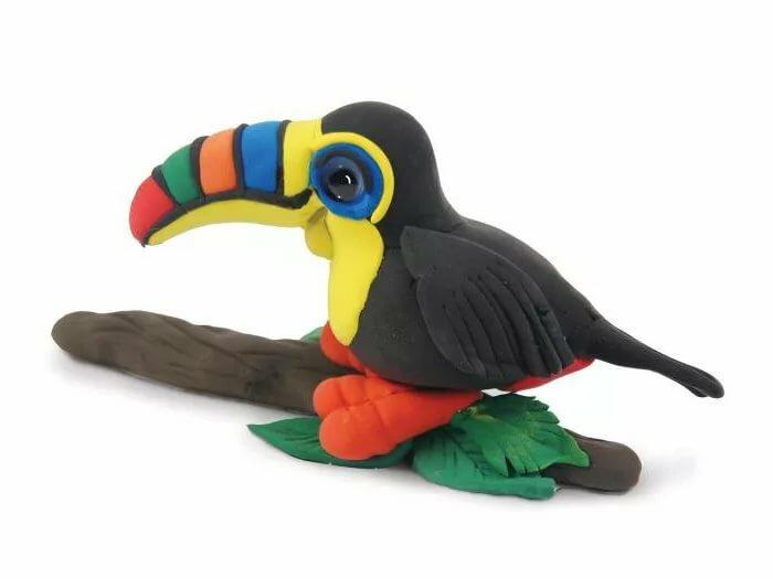 Птицы из пластилина для детей