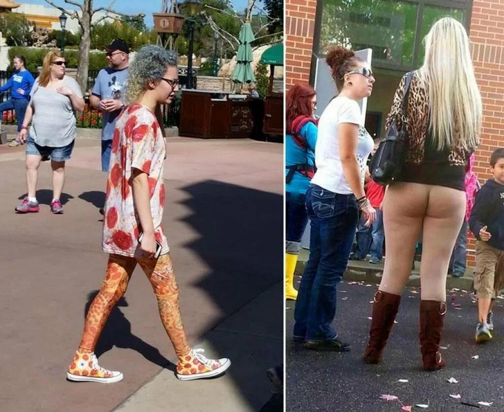 внимание нелепо одетые люди фото массу