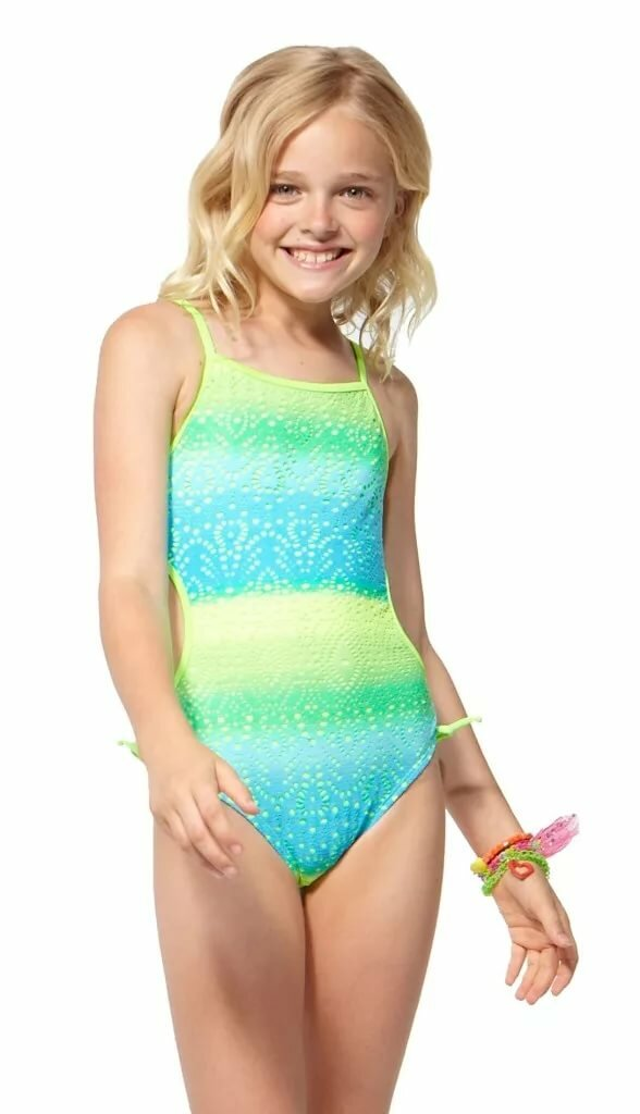 Young teen bathing suit models