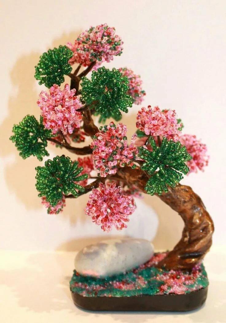 плетение бисером разные деревья фото инструкция активно