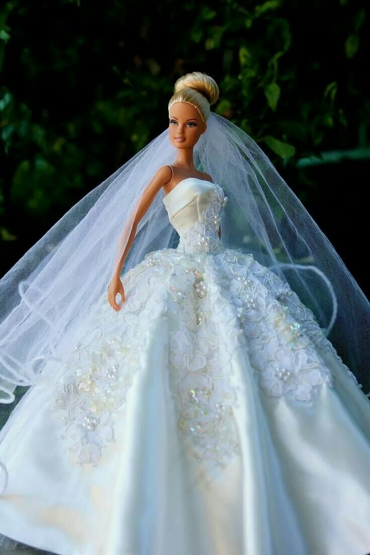 Платье для куклы невесты фото