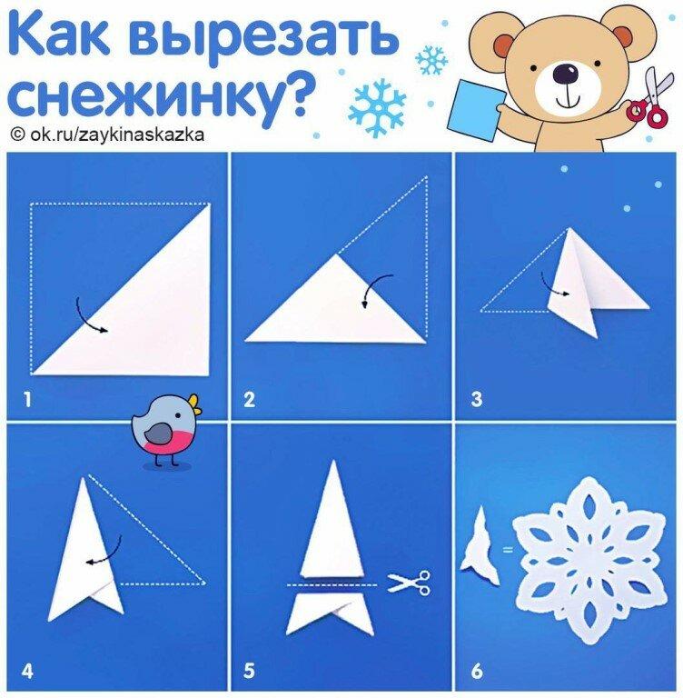 снежинки с картинками как делать чем