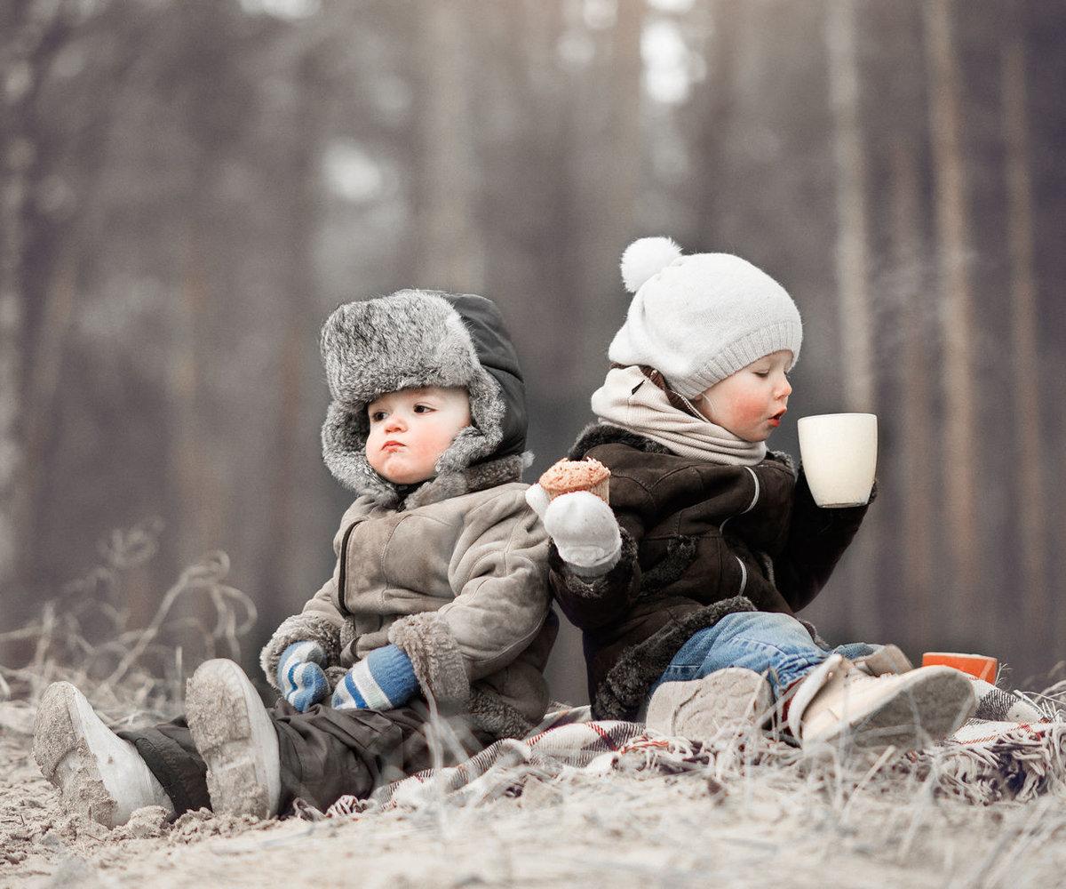 картинки детки зимой на улице