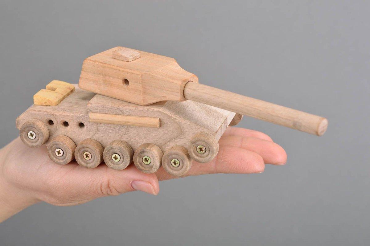 Картинки как сделать танк из дерева