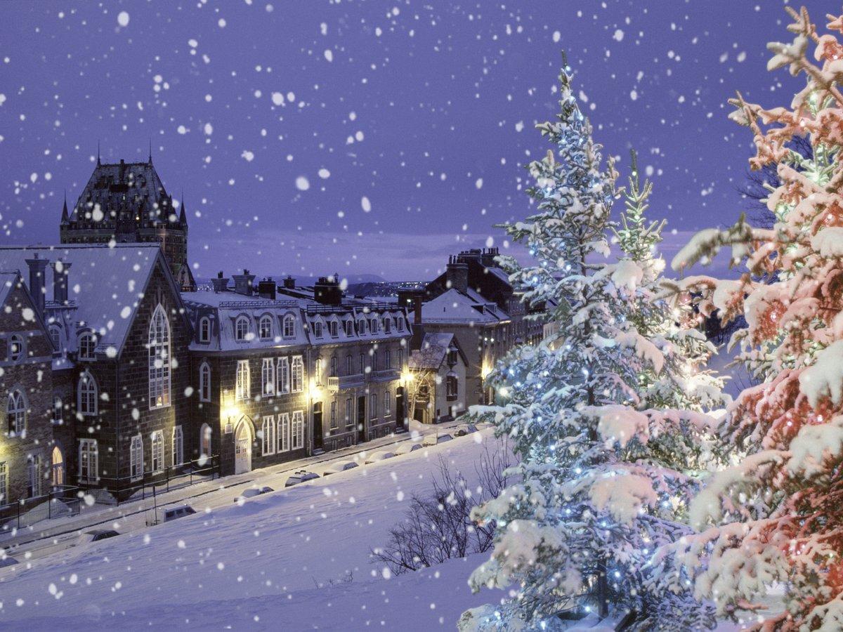 для красивые картинки зима снег город пушистой